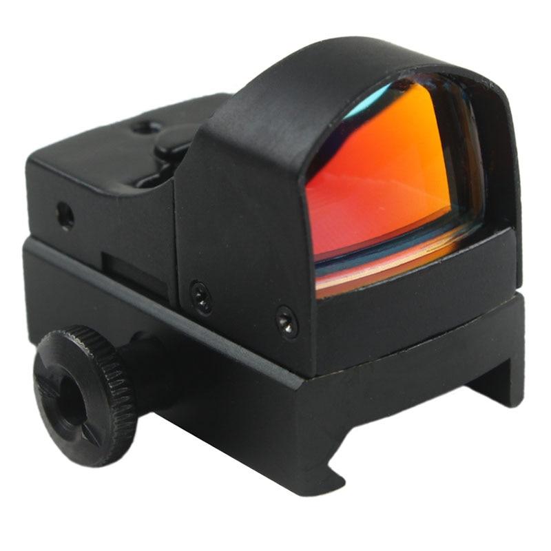 FunpowerlandMini Max Reflex Ολογραφικό κόκκινο Dot sight riflescope Δύο Φωτεινότητα Weaver Ράγα Mount 20mm