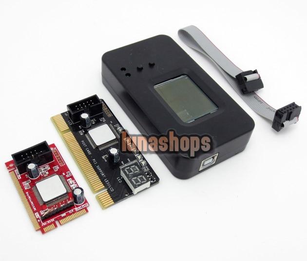 ST8679 laptop Mini PCI-E+desktop PC PCI diagnostic test tester debug card+LPC
