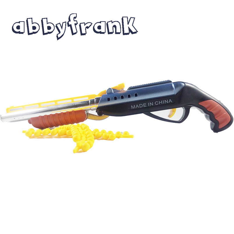 Abbyfrank Soft Bullet Toy Gun Double-barreled Plastic Repeater Pistols Air Gun Bendable with Bullets Gift for Children