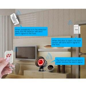 Image 4 - Fuers DIY Wireless 110db Loud Security Siren Rapid Code Strobe Siren Alarm Sound Flash Alarm System For Home Burglar Security