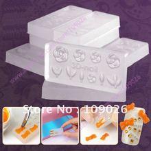 50 стиль смешанный цветок украшение 3D Акриловый Дизайн ногтей шаблон пресс-форм