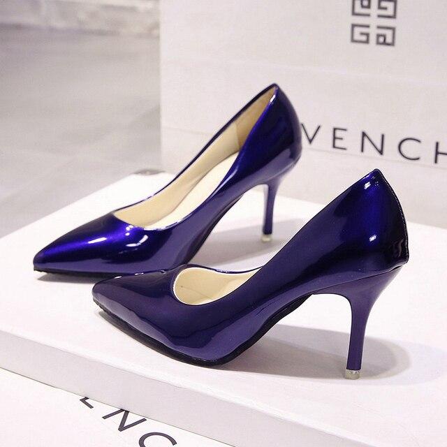 05338faff7 2018 novos das mulheres sapatos de salto alto Europa e nos Estados Unidos  boca rasa apontou