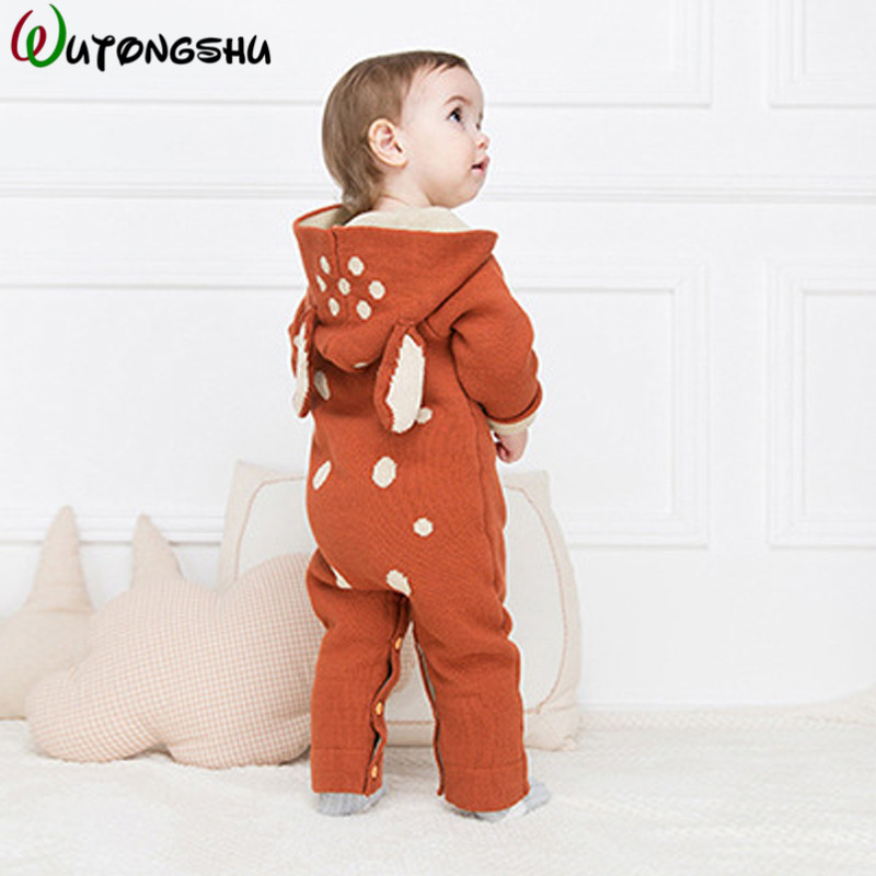 Winter Autumn Christmas Baby Boys Girls Clothes Long-Sleeve Newborn Baby Romper Reindeer Baby Boy Sleepwear Romper Jumpsuit baby clothing summer infant newborn baby romper short sleeve girl boys jumpsuit new born baby clothes