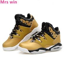 Men Women Air Basketball Shoes Court Golden Men Sneakers Ankle Boots Anti-Slip Court Shock-Absorbant Sports Shoes Zapatillas