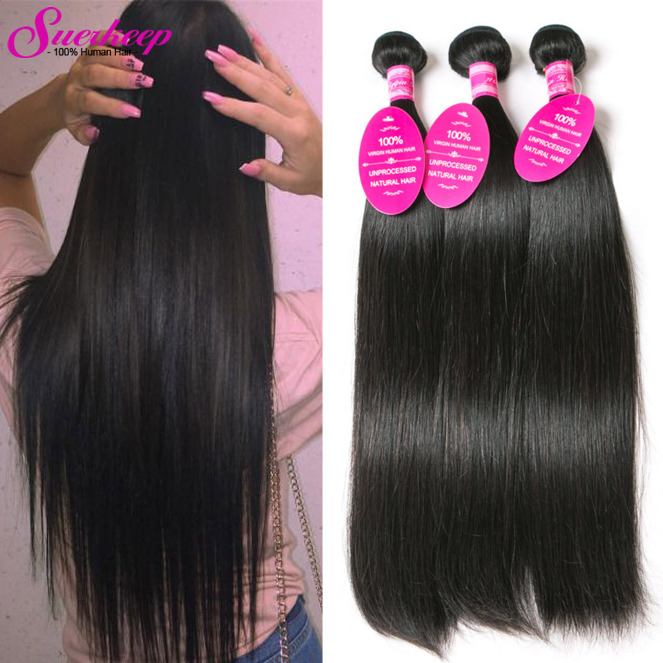 Peruvian Virgin Hair Straight 3 Bundles 7A Unprocessed ...