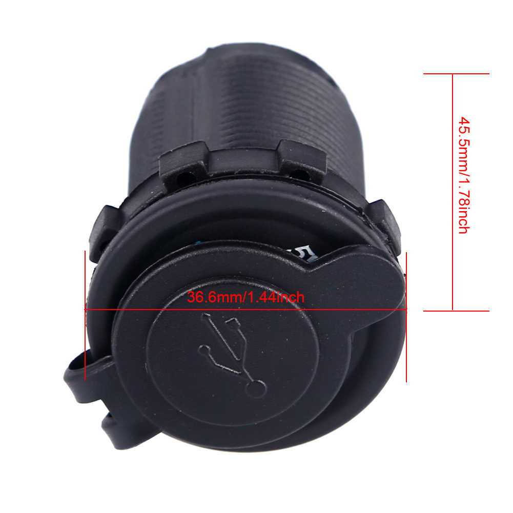 12-24V USB Charger for Motorcycle Auto Truck ATV Boat LED Car 3.1A Dual USB Socket Charger Power Adapter Car Socket