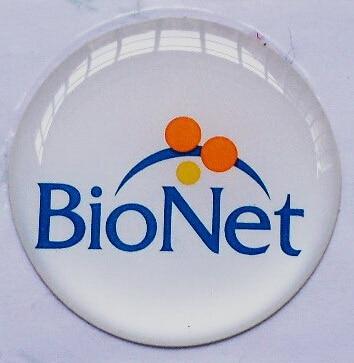 54mm Custom Round Adhesive Digital Printing Epoxy Clear sticker custom
