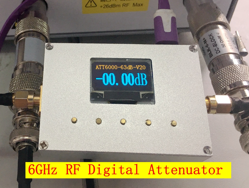 6G Digital Programmed Attenuator 60DB Step 0.25DB OLED Display CNC ATT-6000V2.0 цены