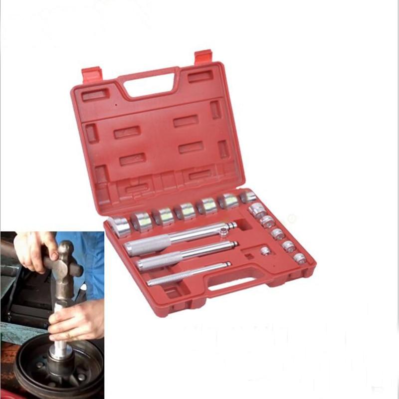 17pc Automotive Bearing Race Seal Drivers Bush Removal Tool Kit For Cars/Motorbikes