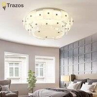 Современный минимализм стеклянный светодиодный потолочный светильник для гостиной спальни столовой дома Хрустальный потолочный светильн