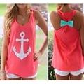 2016 Новая Модная блузка для женщин лето стиль свободного покроя шифон жилет топы без рукавов рубашка товары для фитнеса блузка A1