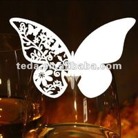 Wine glass Butterfly Cards for wedding dinner