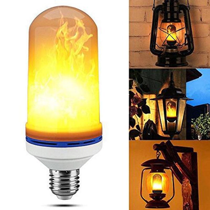 LED Bulbs E27 E26 LED lamp Flame Effect Fire Lighting 9W 18W 1 Flickering Emulation flame Light 1900K-2200K AC85-265V Flame lamp