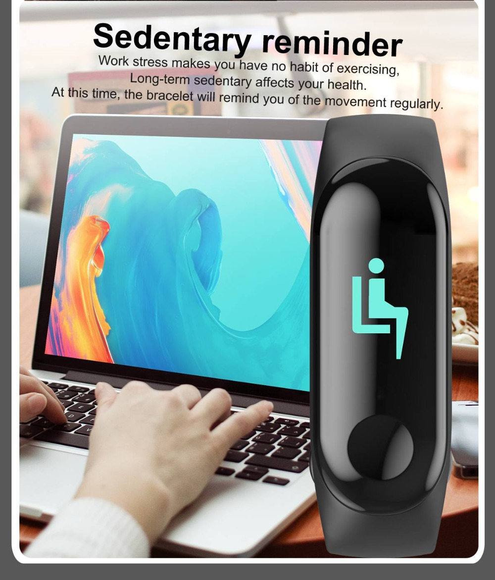 Torntisc W3 Fitness Bracelet Color-screen IP68 Waterproof blood pressure Oxygen Monitor sport Heart Rate Smart band pk mi band 3 (13)