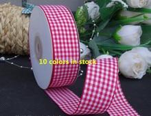 1 25mm Multicolor font b Tartan b font Plaid Ribbon Bows Appliques Sewing Crafts 25Y