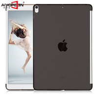 For Ipad Pro 9 7 Case Tpu Back Soft Protect 2016 Semi Bezel Transparent Can See