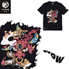 The Wookong 2017 New T Shirts Men 100 Cotton Short Sleeve Chinese Cattle Devil Print Y