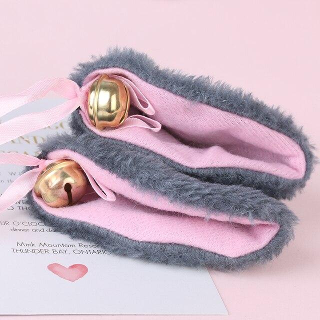 1 Pair Bell Cat Ears Hair Clip Long Ears Faux-Fur Hair Clip Party Birthday Cosplay Sweet Hair Band Headwear Hair Accessories