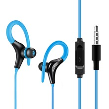 GSDUN Stereo Earphone Headphones Super Bass Sport Ear Hook Headset With Microphone Handsfree Running Headphone for Mobile Phones