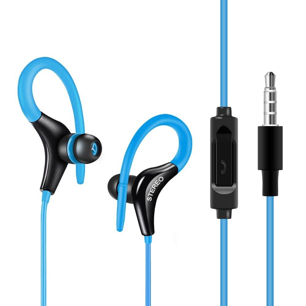 GSDUN Stereo Super Bass Sport Earphone Headphones Ear Hook Headset With Microphone Handsfree Running Headphone for Mobile Phones