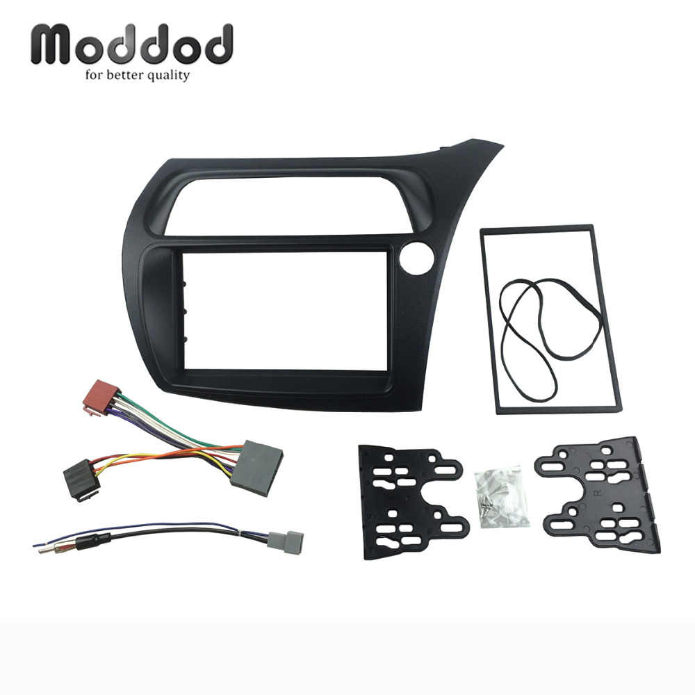 double din fascia for honda civic rhd radio with wiring harness antenna stereo panel dash installation [ 1000 x 1000 Pixel ]
