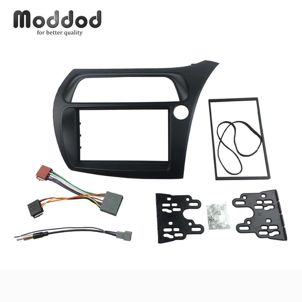 medium resolution of double din fascia for honda civic rhd radio with wiring harness antenna stereo panel dash installation