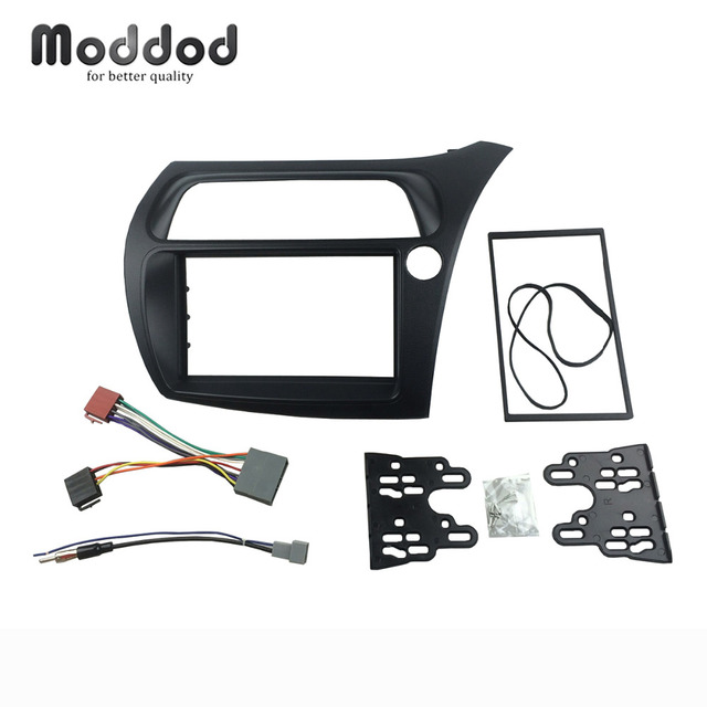 Double Din Fascia for Honda Civic RHD Radio with Wiring Harness