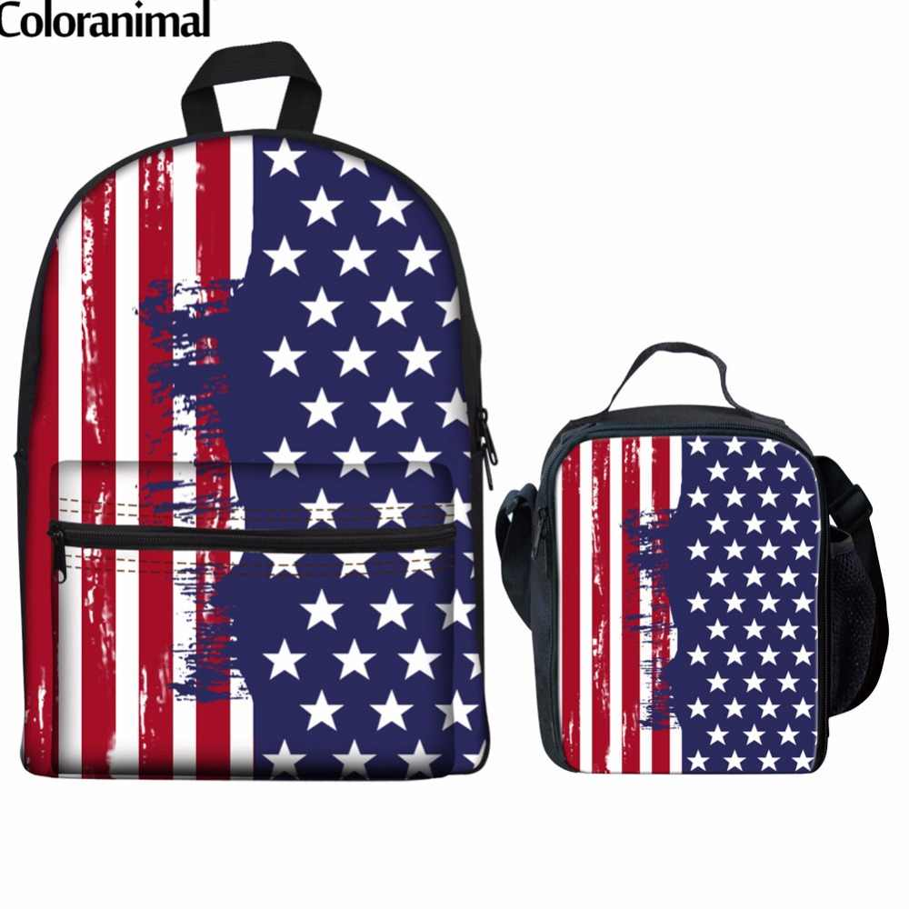 4d41874ca6e9 Detail Feedback Questions about Coloranimal Schoolbags Backpack Flag ...