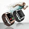 Homens esporte smartwatch dz09 com câmera cartão sim para ios android apple telefone do bluetooth relógio de pulso led militar digital smart watch