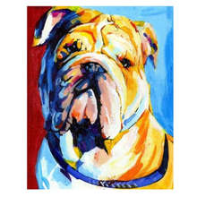 DIY Digital Oil Painting,Home Decoration Drawing,Animal Dog,Painting By Numbers Colorful Dog