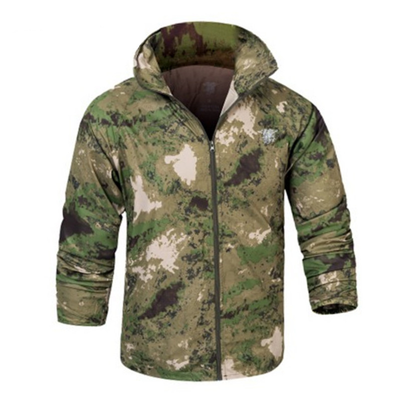 Out door Camouflage Sun & UV Protection Quick Dry Man Coats Skin ...