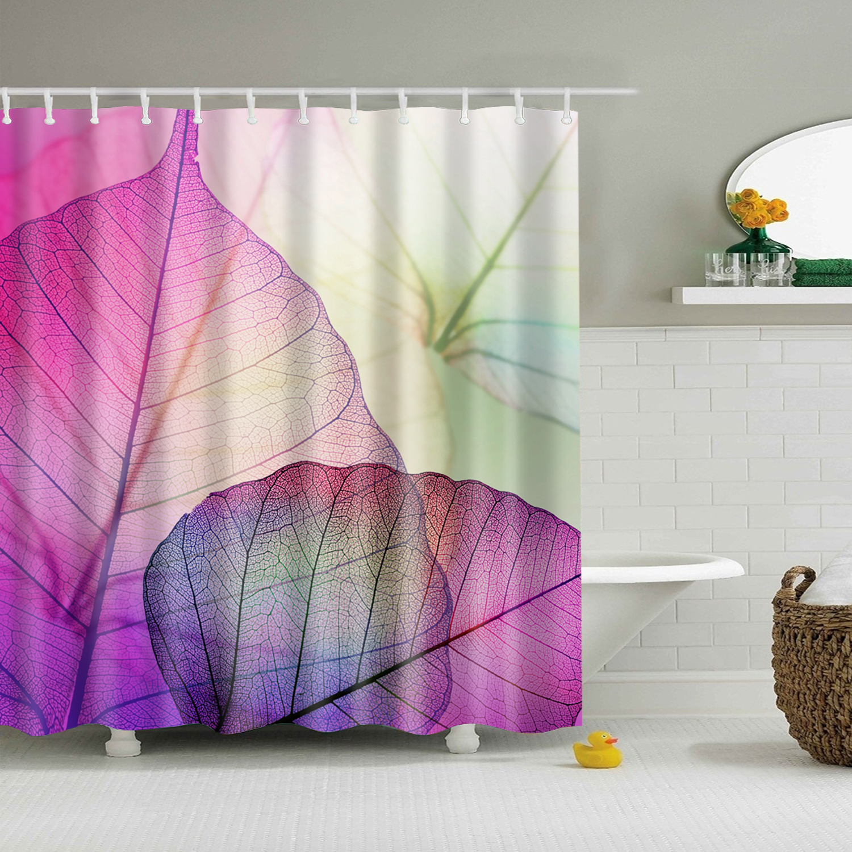 Stylish Waterproof Bathroom Fabric Shower Curtain Panel
