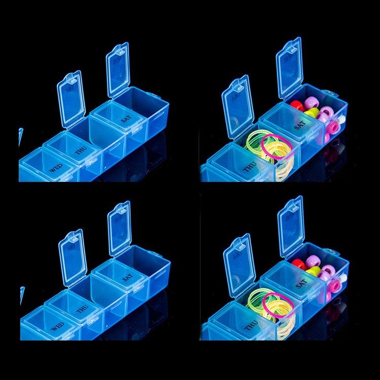 7 Day Pill Medicine Tablet Pillbox Dispenser Organizer Case Pill Box Multicolor Container For Medicines