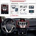 2 DIN Plástico ABS Quadro Fascia Rádio Para Ford Fiesta 2008 ~ 2011 Auto Estéreo Interface de CD Traço Guarnição Instalação Kits