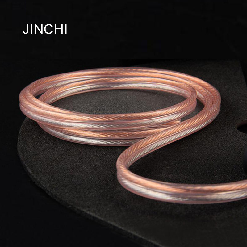 JINCHI 4N Oxygen-free Copper Speaker Cable Pure Copper High-power Gold And Silver Audio Cable For KTV, Home Theater 600 Core