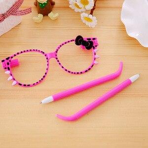 Image 4 - 40 Pcs יצירתית לילדים משקפיים קשת קריקטורה מסגרת כדורי עט כדורי כתיבה תלמיד עט מפעל ישיר סיטונאי