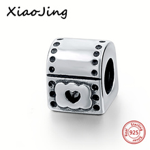 Fit Authentic Pandora Bracelet Silver 925 Origina Heart Nice Box Charm Beads Charms Antique Pendant Jewelry Gifts