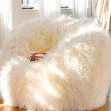 B Lazy Couch Sheep Wool White Sheep Velvet Bean Bag Sofa Floor Bedroom Bay Window Single Sofa Chair(China)