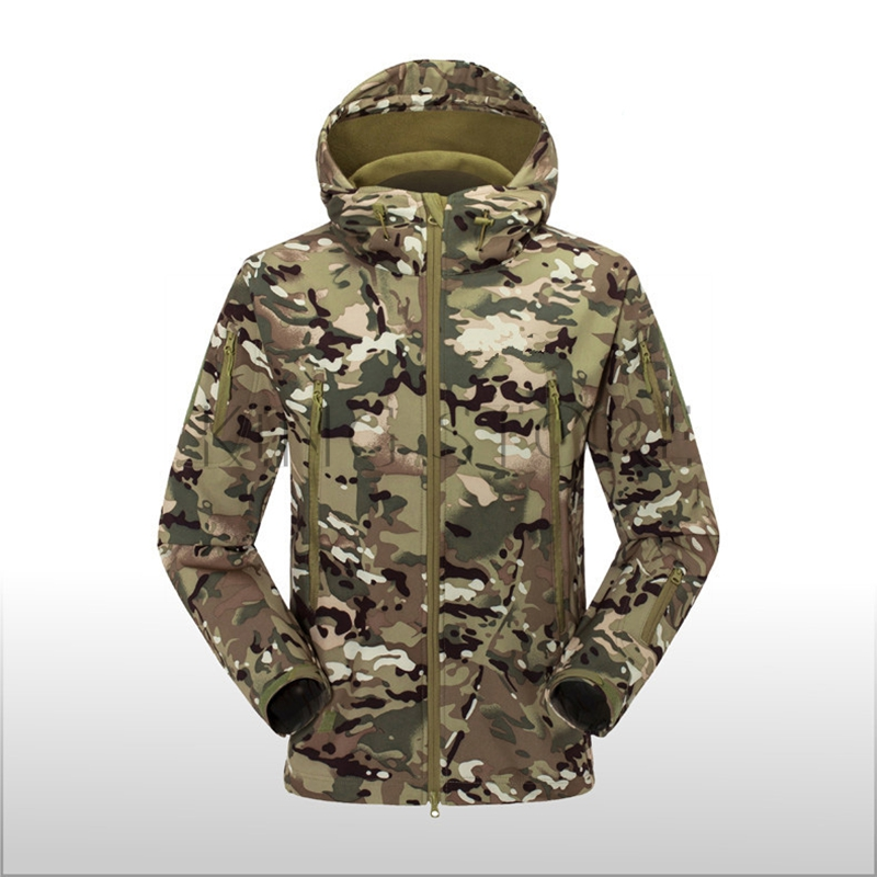 Windproof Waterproof Anti sweat Tactical Sport Hunt Camouflage Shark Skin Jacket Men Neutral Mauntaineering Army Clothing