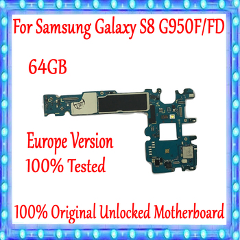 for Samsung Galaxy S8 board G950F G950FD motherboard 100% Original maintherboard unlock with chips Logic board
