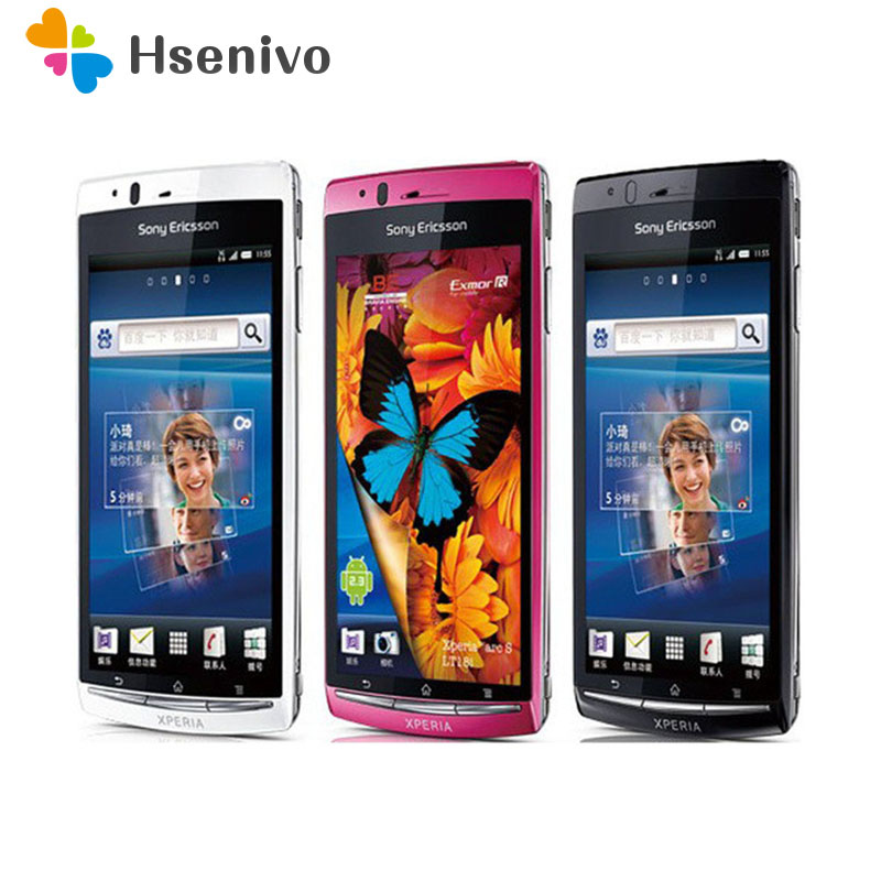 100% Original Sony Ericsson Xperia Arc S LT18i Mobile Cell Phone 3G Android Phone Unlocked Phone 1500 MAh Free Shipping