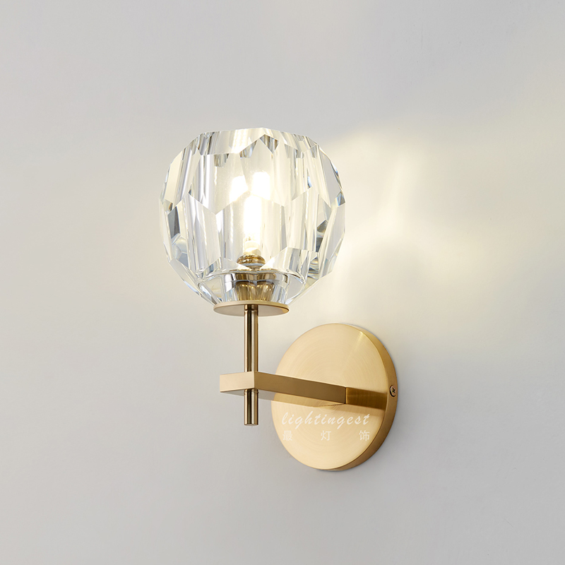 Modern Scone Wall Light Crystal LED Wall Lamp for Living Room Bedroom Design Indoor Lighting Fixtures Creative Home Decoration creative waterproof flowers pattern wall stickers for living room bedroom decoration