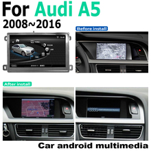 7 Android car multimedia player For Audi A5 8T 8F 2008~2016 MMI Navigation Navi GPS BT Support 4G 3G WiFi Radio stereo car android radio gps multimedia player for audi a4 8w 2016 2019 mmi original style navigation wifi bt 4g 3g network