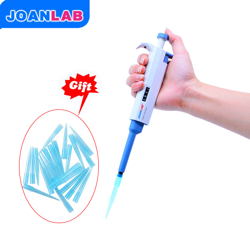 JOANLAB Single-channel Adjustable Volume Mechanical Pipette-TopPette Lab Pipettor Pipet 20-200ul/100-1000ul Free Tips