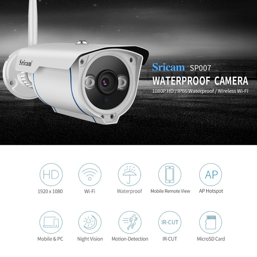 Camera Ip Exterieur Onvif Us 40 88 46 Off Sricam Sp007 3 6mm Security Wifi Camera Exterieur 2 0mp 4x Zoom Onvif Outdoor Wireless Cctv Ip Camera Infrared Ap Hotspot Tf In