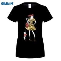 GILDAN Women Fashion Brand T Shirt Summer Fashionable Women S T Shirt One Girl With Dogs