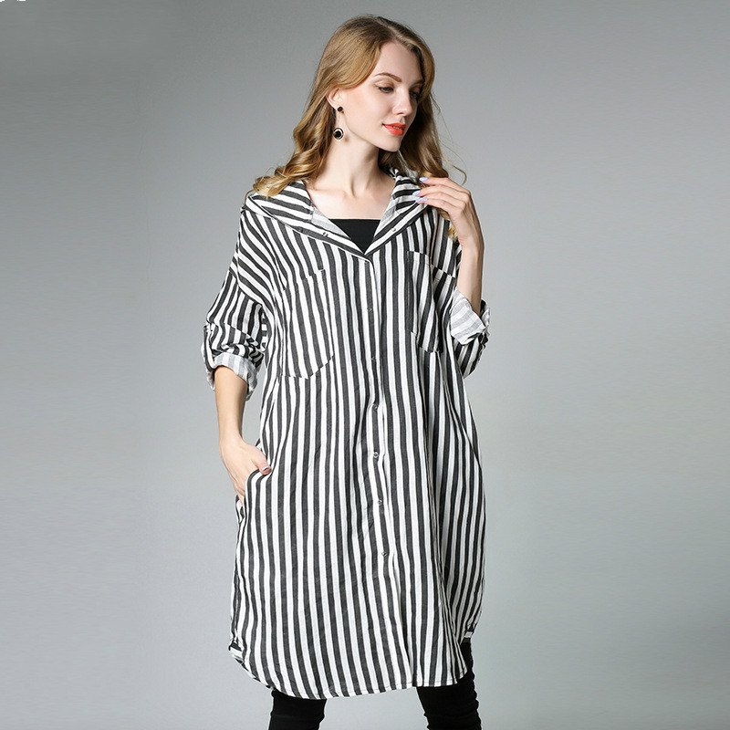 2018 New Women Maternity Clothes Pregnancy T Shirt Europe And America For Age 25-35 Black Striped Hooded Maternity Shirts/Tops 2018 new maternity long sleeve t shirt