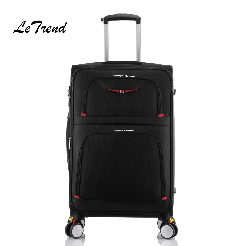 Letrend New Fashion 22 Inch Oxford Men Rolling Luggage Trolley Bag Suitcases Spinner Student Travel Bag Business Password box
