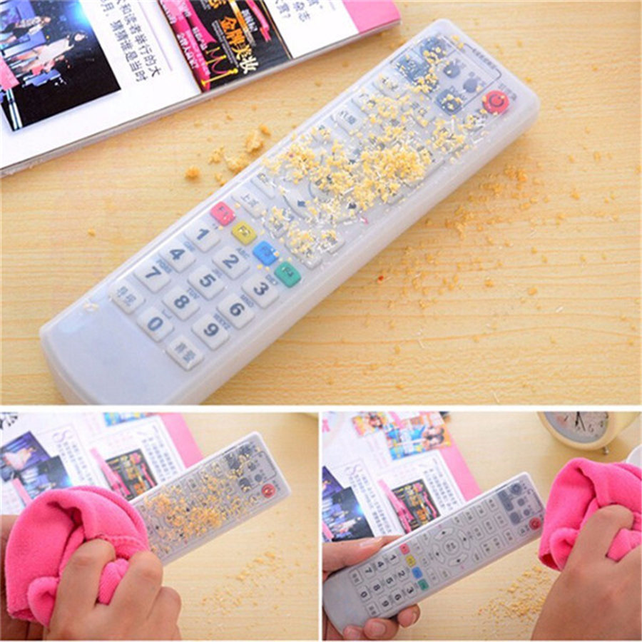 1PCS Silicone Remote Control TV Air Condition  Dust Cover Protective Case Cover Waterproof Dust Protector Pouch Storage Bags  1