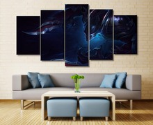 Nocturne League of Legends Game 5 Piece Canvas Wall Art For Living Room Home Decor Picture HD Print Painting